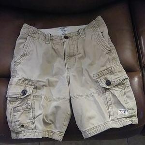 Abercrombie kids tan cargo short